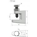 скоба за греда за закрепване на шпилки M10 за монтаж на въздуховоди