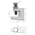 скоба за греда за закрепване на шпилки M8 за монтаж на въздуховоди