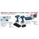 GSR 18 V-LI + GDR 18 V-LI БАТЕРИЙ  3 x 4.0 Ah, L-Boxx + (ЧАСОВНИК ДО ИЗЧЕРПВАНЕ)