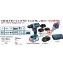 GSR 18 V-EC БАТЕРИЙ   2 x 4.0 Ah + 1 x 2.0 Ah, L-Boxx + (ЧАСОВНИК ДО ИЗЧЕРПВАНЕ)   60/31 Nm