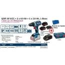 GSR 18 V-EC БАТЕРИЙ   2 x 4.0 Ah + 1 x 2.0 Ah, L-Boxx +  60/31 Nm+ВАЛЧЕР ЗА ГОРИВО